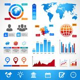 Business Infographics Layout Design Elements Stock Photography