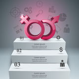 Business Infographics. Man and woman icon. Stock Image