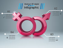 Business Infographics. Man and woman icon. Stock Photography