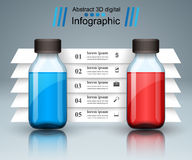 Business Infographics. Medicine bottles,  Recipe icon. Royalty Free Stock Photography