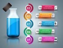 Business Infographics. Medicine bottles,  Recipe icon. Royalty Free Stock Photos