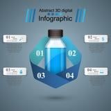 Business Infographics. Medicine bottles,  Recipe icon. Stock Image