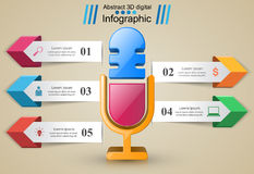 Business Infographics. Microphone icon. Royalty Free Stock Photo