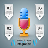 Business Infographics. Microphone icon. Royalty Free Stock Photography