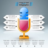 Business Infographics. Microphone icon. Royalty Free Stock Photos