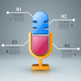 Business Infographics. Microphone icon. Stock Images