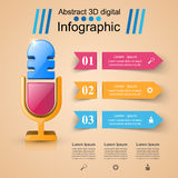 Business Infographics. Microphone icon. Stock Photos