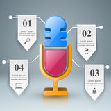 Business Infographics. Microphone icon. Stock Image