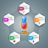 Business Infographics. Microphone icon. Royalty Free Stock Image
