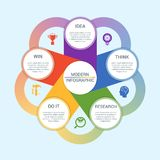 Vector infographic illustration 6 Royalty Free Stock Photos