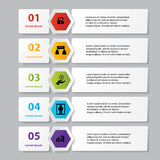 Business infographics number banners template or website layout. Vector. Illustration Stock Photography