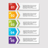 Business infographics number banners template or website layout. Vector. Illustration Stock Photos