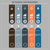 Business infographics number paper cut tamlate. Percent, economy, buy, dealers, business, plan, concept, , brokers, success, portfolio, presentation, location Stock Images