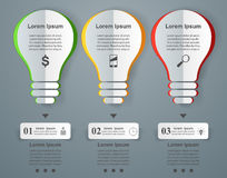 Business Infographics origami style Vector illustration. Bulb ic Stock Image