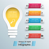 Business Infographics origami style Vector illustration. Bulb ic Stock Photography