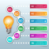 Business Infographics origami style Vector illustration. Bulb ic Royalty Free Stock Photos
