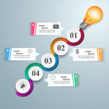 Business Infographics origami style Vector illustration. Bulb ic Royalty Free Stock Photo