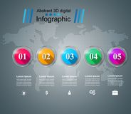 Abstract 3D digital illustration Infographic. Business Infographics origami style Vector illustration. Eps 10 Royalty Free Stock Photos