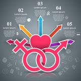 Business Infographics. Man and woman icon. Royalty Free Stock Images