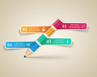 Business Infographics origami style Vector illustration. Pencil Royalty Free Stock Image