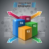 Abstract 3D digital illustration Infographic. Stock Photos