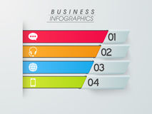 Business infographics paper stripes. Stock Image