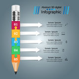 Business Infographics. Pencil icon. Royalty Free Stock Image