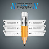 Business Infographics. Pencil icon. Stock Photography