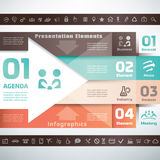 Business infographics and presentation template Royalty Free Stock Images