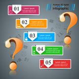 Business infographics. Question mark. Business 3d infographics. Question mark. Vector eps 10 Stock Photos