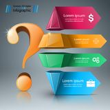 Business infographics. Question mark. Business infographics. Question 3d mark. Vector eps 10 Stock Image