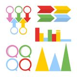 Business infographics set. Arrows and charts with empty space Stock Image