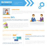 Business Infographics Set With Copy Space For Presentation  Royalty Free Stock Images