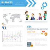 Business Infographics Set With Copy Space For Presentation   Stock Photos
