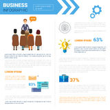 Business Infographics Set With Copy Space For Presentation Meeting Negotiation Concept. Flat Vector Illustration Royalty Free Stock Image
