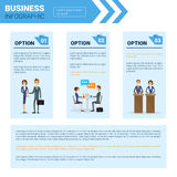 Business Infographics Set With Copy Space For Presentation Meeting Negotiation Concept. Flat Vector Illustration Royalty Free Stock Photography