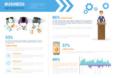 Business Infographics Set With Copy Space For Presentation  Stock Photography