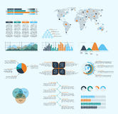 Business infographics. Set of infographics design elements. Vector illustration of business infographics Royalty Free Stock Photography