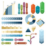 Business infographics. Set of info graphics elements. Arrows, diagrams and graphics Stock Image