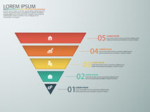 Business infographics with stages of a Sales Funnel Stock Photo
