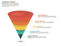 Business infographics with stages of a Sales Funnel Royalty Free Stock Image