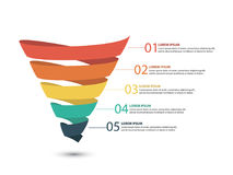 Business infographics with stages of a Sales Funnel Stock Image