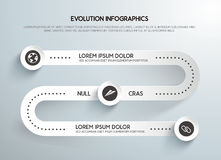 Business Infographics steps evolution Royalty Free Stock Image