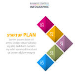 Business Infographics strategy design elements. Template illustration. Vector eps10 Royalty Free Stock Images