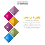 Business Infographics strategy design elements. Template illustration. Vector eps10 Stock Photos