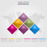 Business Infographics strategy design elements. Template illustration. Vector eps10 Royalty Free Stock Photos