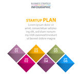 Business Infographics strategy design elements. Template illustration. Vector eps10 Royalty Free Stock Photo