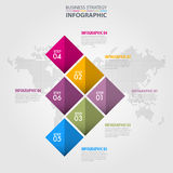 Business Infographics strategy design elements. Template illustration. Vector eps10 Stock Image