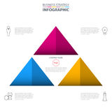 Business Infographics strategy design elements. Triangle pyramid Business Infographics strategy design elements template illustration. Vector eps10 Stock Image