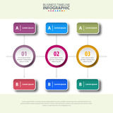 Business Infographics, strategy with option design template illu Royalty Free Stock Photo